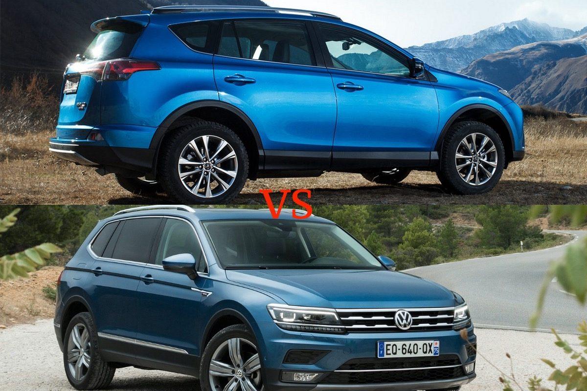 Небольшой размер, хорошее оснащение и полный привод, выбираем между Volkswagen Tiguan и Toyota RAV4